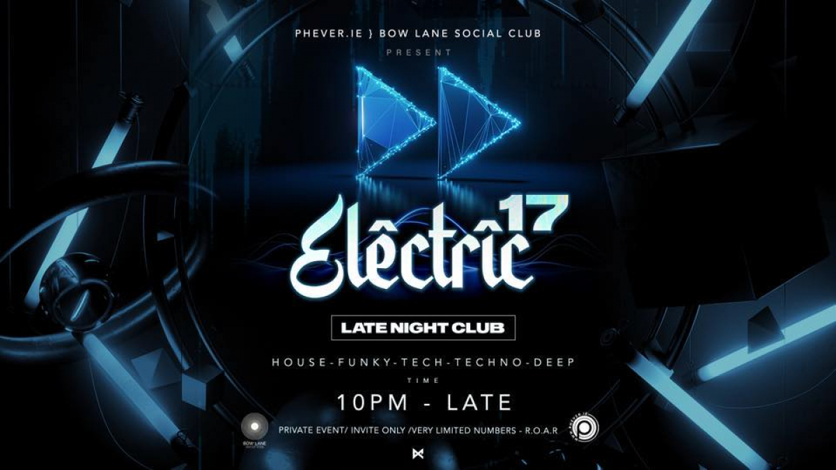 mBooked.com, Electric.17 Friday 22nd October, DUBLIN, PHEVER